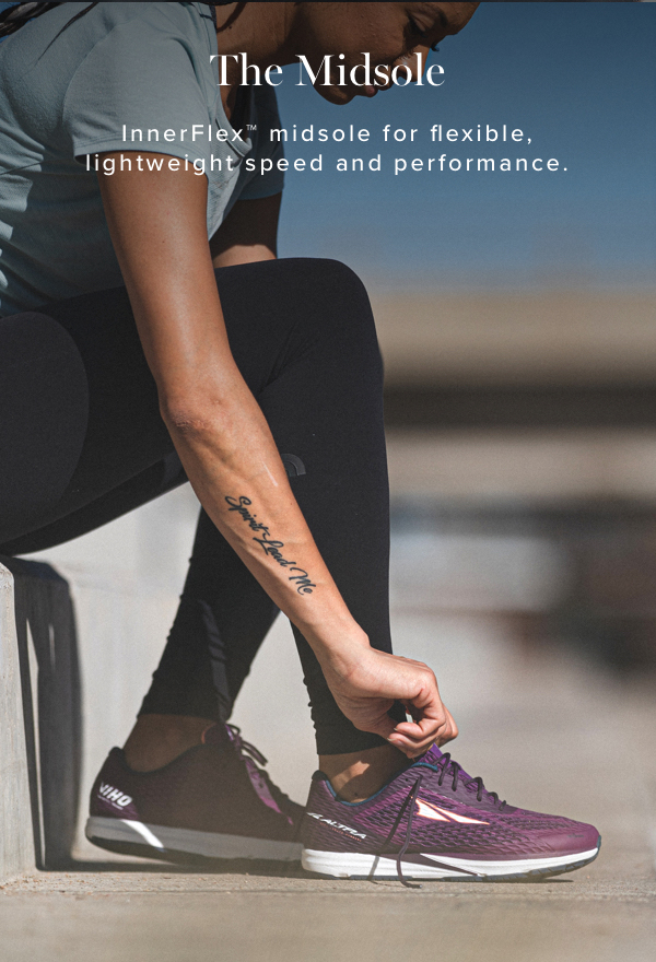 The Midsole. InnerFlex midsole for flexible, lightweight speed and performance.